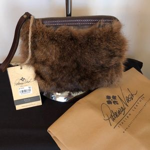 New Patricia Nash Leather and Fur Bag